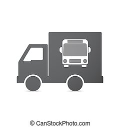 Isolated truck with a bus icon