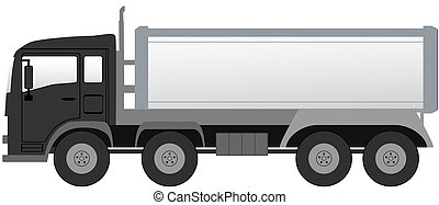 isolated truck with black cabin