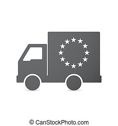 Isolated truck with the EU flag stars - Illustration of an ...