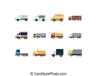 Isolated trucks icon set vector design