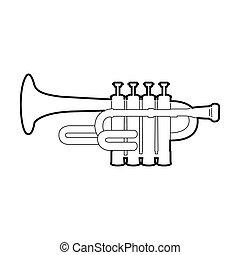 Isolated trumpet trumpet