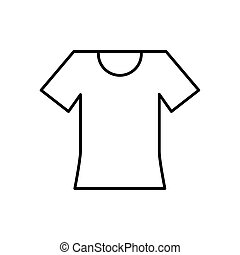 Isolated tshirt line style icon vector design - Tshirt line ...