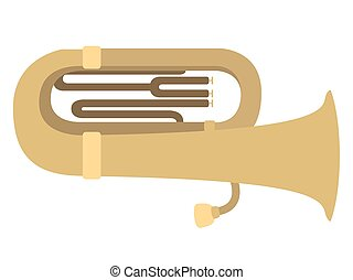 Isolated tuba icon. Musical instrument. Vector illustration...