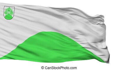 Isolated Tukums city flag, Latvia - Tukums flag, city of...