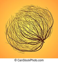 dry messy tumbleweed