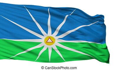 Isolated Uberlandia MinasGerais Brasil city flag, Brasil -...