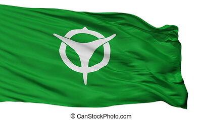 Isolated Uji city flag, prefecture Kyoto, Japan - Uji flag, ...