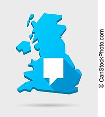 UK map icon with a tooltip
