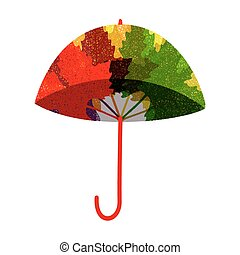 Isolated umbrella. Vector illustration, EPS10.