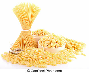 isolated uncooked pasta