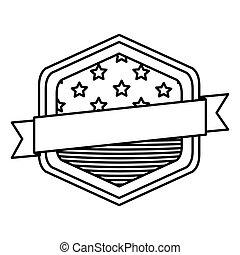Isolated Usa flag inside frame design