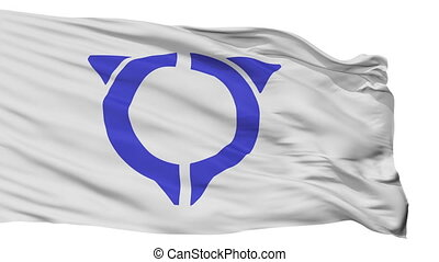 Isolated Uto city flag, prefecture Kumamoto, Japan - Uto...