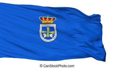 Isolated Uvieu city flag, Spain - Uvieu flag, city of Spain,...