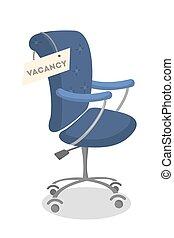 Isolated vacant chair. - Isolated vacant chair for new fresh...