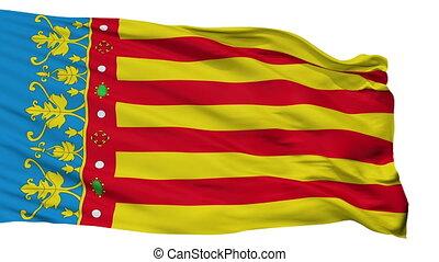 Isolated Valencian Community flag, Spain - Valencian...