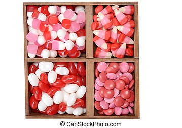 valentines candy in a box