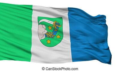 Isolated Valka city flag, Latvia - Valka flag, city of...