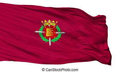 Isolated Valladolid city flag, Spain - Valladolid flag, city...