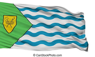 Isolated Vancouver city flag, Canada - Vancouver flag, city...
