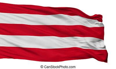 Isolated Varazdin city flag, Croatia - Varazdin flag, city...