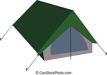Isolated vector camping tent illustration in flat style.