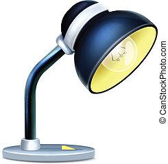 Isolated Vector Cartoon Reading Lamp