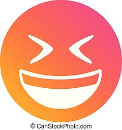 Isolated vector gradient laughing out loud face flat icon