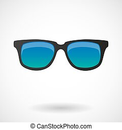 Isolated vector illustration of  a sunglasses icon