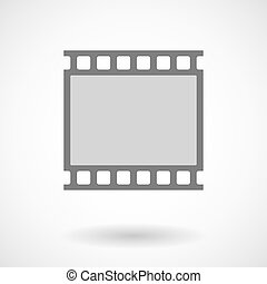 Isolated vector illustration of   a photographic 35mm film strip