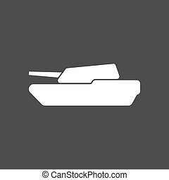 Isolated vector illustration of a combat tank