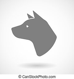 Isolated vector illustration of  a dog head