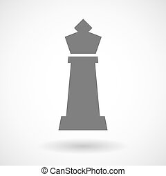 Isolated vector illustration of a king   chess figure