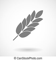 Isolated vector illustration of  a wheat plant icon