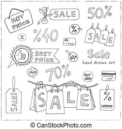 Vector illustration of sale icons set