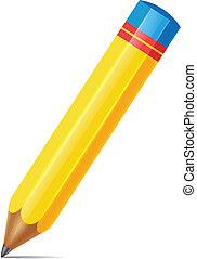 Isolated Vector Realistic Color Pen