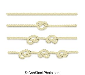 Isolated vector ropes with knots.