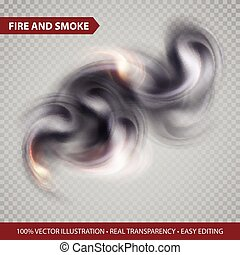 Isolated Vector Smoke on transparence background. Vector illustration EPS10
