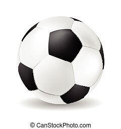 Isolated vector soccer ball closeup