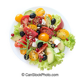 vegetarian salat on a white background - Isolated vegetarian...