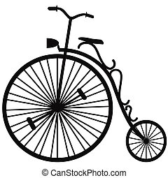 isolated Velocipede vector on white background