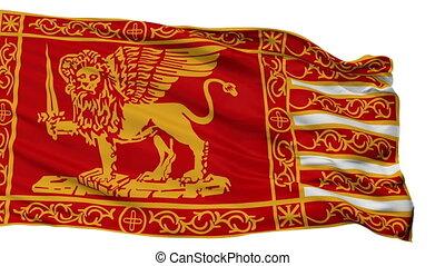 Isolated Venice city flag, Italy - Venice flag, city of...