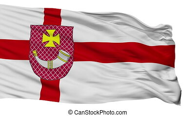 Isolated Ventspils city flag, Latvia - Ventspils flag, city...