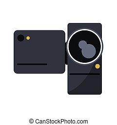 Isolated videocamera device design - Videocamera icon....