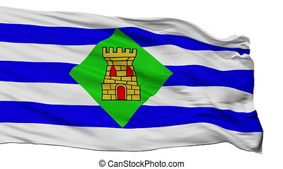 Isolated Vieques city flag, Puerto Rico - Vieques flag, city...
