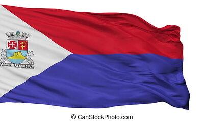 Isolated Vila Velha city flag, Brasil - Vila Velha flag,...
