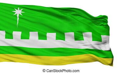 Isolated Villalba city flag, Puerto Rico - Villalba flag,...