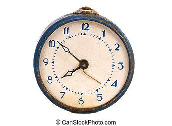 isolated vintage alarm clock