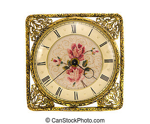 isolated vintage and ornate clock