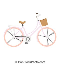 Isolated vintage bicycle