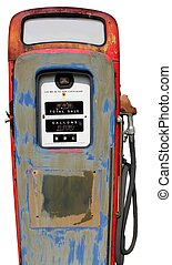 isolated vintage gas pump